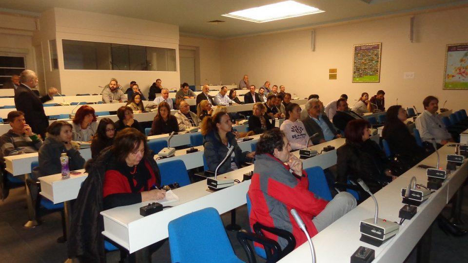 Ημερίδα με τίτλο Επιχειρηματικότητα σε Κρίση και εισηγητή τον κύριο Αγγελάκη Άκη 26-11-2014